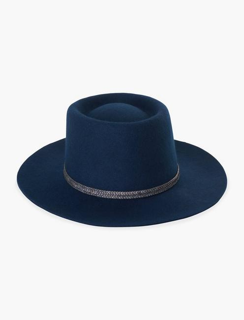 NAVY WOOL HAT,