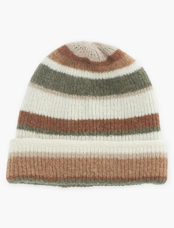 STRIPE REVERSIBLE BEANIE, OLIVE MULTI, productTileDesktop