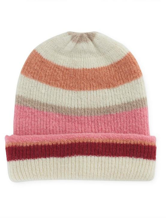 STRIPE REVERSIBLE BEANIE, PINK MULTI, productTileDesktop