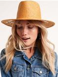 FLORAL EMBROIDERED STRAW HAT, NATURAL