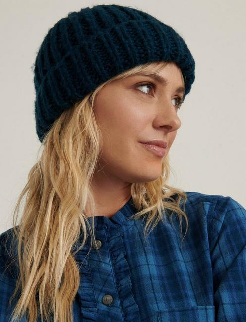 SOLID KNIT BEANIE, TEAL