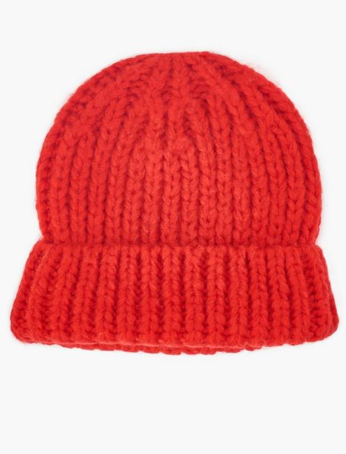 SOLID KNIT BEANIE, RED