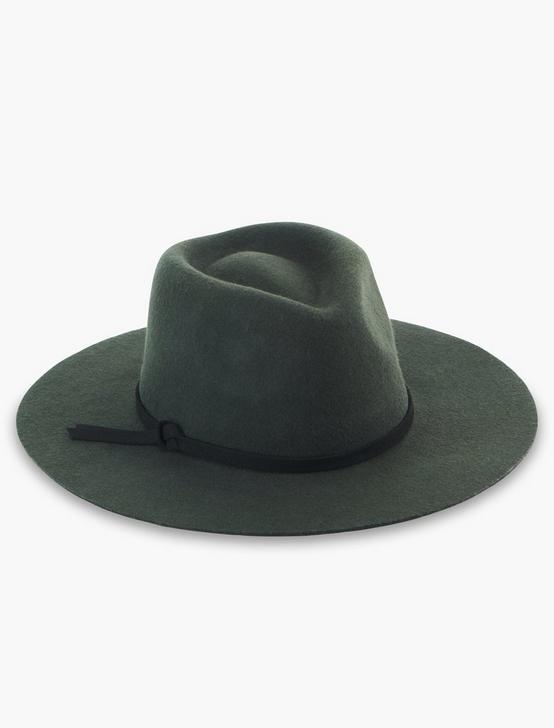 OLIVE PANAMA WOOL HAT, OLIVE, productTileDesktop