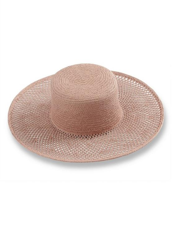 WOVEN STRAW BOATER, TAUPE, productTileDesktop
