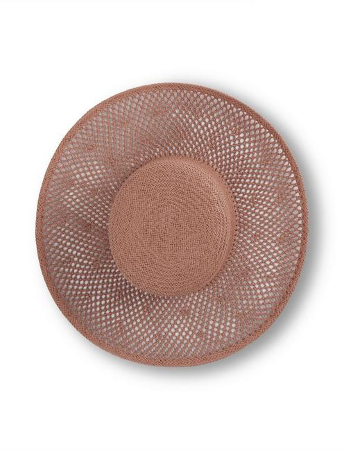 WOVEN STRAW BOATER, TAUPE