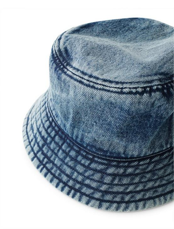 DENIM BUCKET HAT, RINSE, productTileDesktop