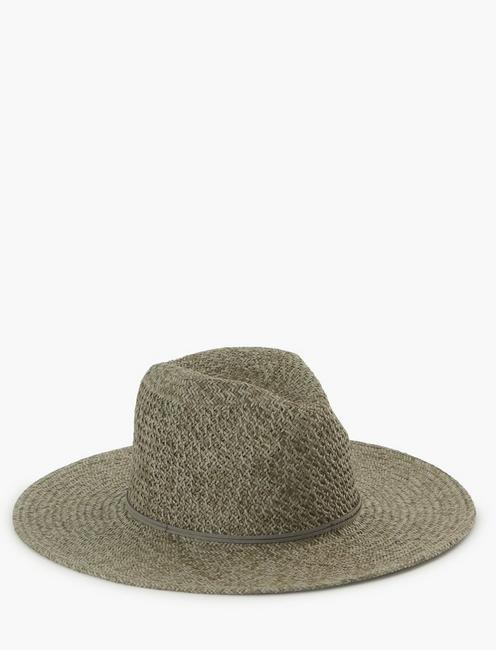 TWO TONE PANAMA HAT,