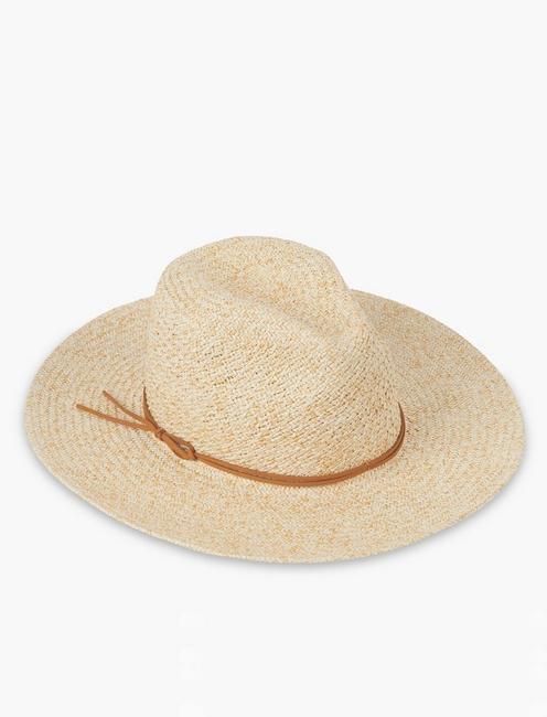 TWO TONE PANAMA HAT, #130 NATURAL