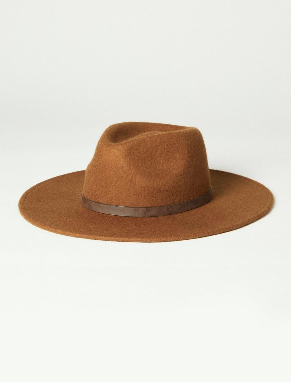 BROWN WIDE BRIM WOOL RANGER HAT, image 2