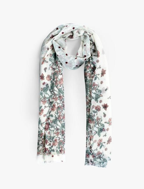 FADED FLORAL DOT SCARF,