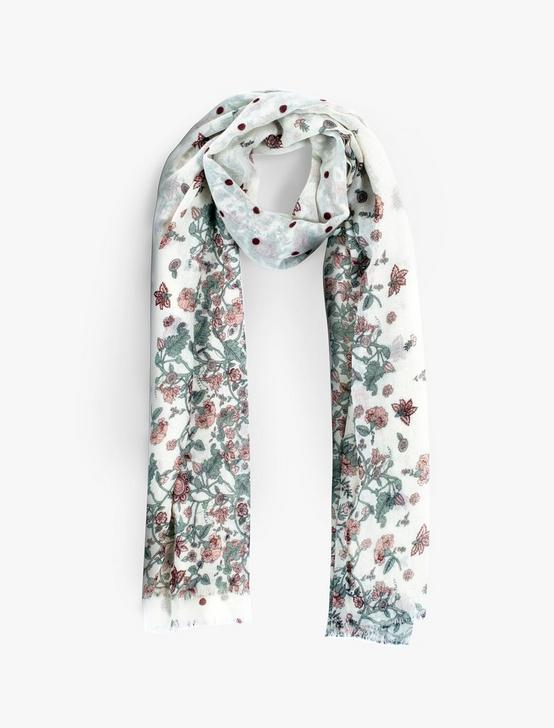 FADED FLORAL DOT SCARF, MULTI, productTileDesktop