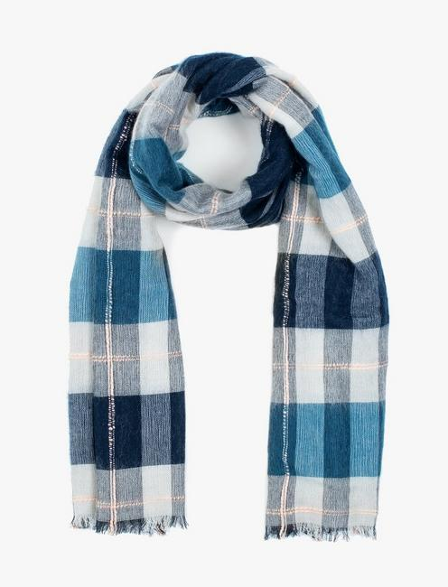 BRUSHED PLAID SCARF, MULTI