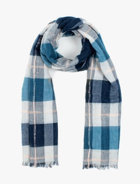 BRUSHED PLAID SCARF, MULTI, productTileDesktop