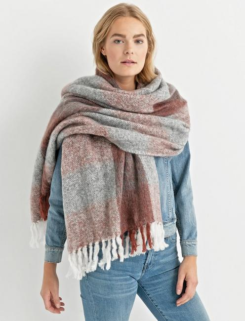 BRUSHED CHECK SCARF, MULTI