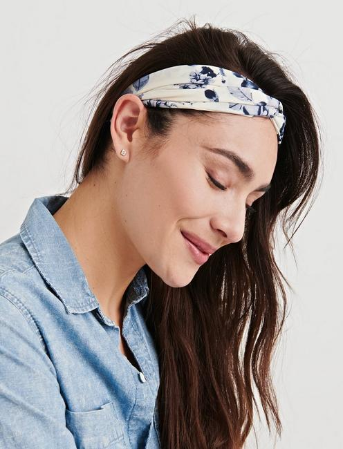 FLORAL DOT HEAD SCARF,