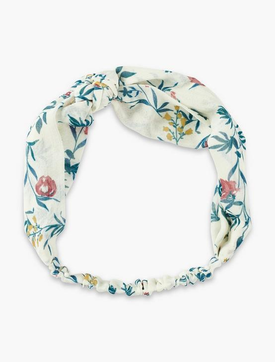 FLORAL VINE HEAD SCARF, CREAM MULTI, productTileDesktop