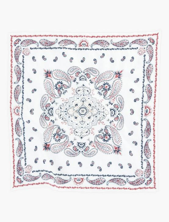 EMBROIDERED AMERICANA BANDANA, MULTI, productTileDesktop