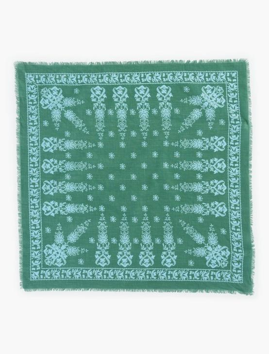 BENIN PAISLEY FRAYED EDGE BANDANA, MULTI, productTileDesktop