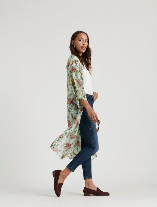 FLORAL PRINTED DUSTER, MULTI, productTileDesktop