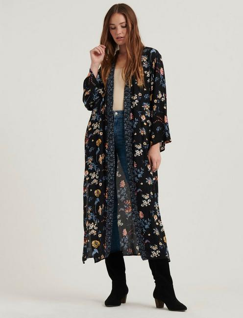 MIXED FLORAL DUSTER,
