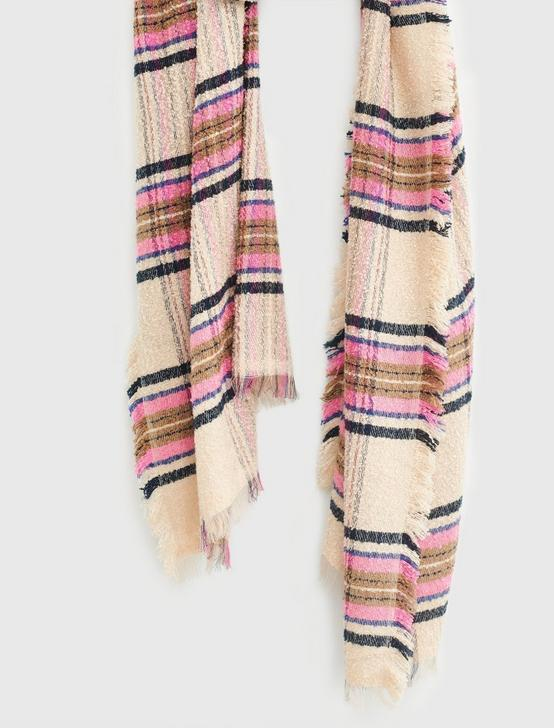 PLAID TEXTURE SCARF, MULTI, productTileDesktop