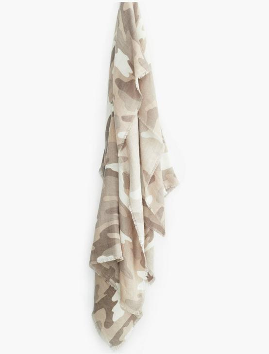 BRUSHED CAMO SCARF, NEUTRAL, productTileDesktop