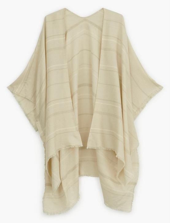 STRIPED KIMONO, CREAM MULTI, productTileDesktop