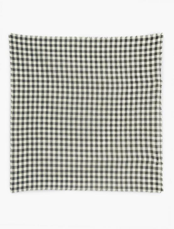 GINGHAM BANDANA, BLACK, productTileDesktop