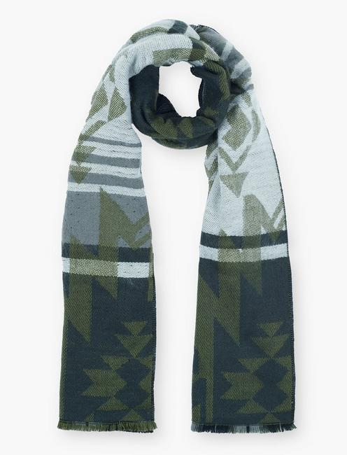Lucky Geo Plaid Duofold Scarf
