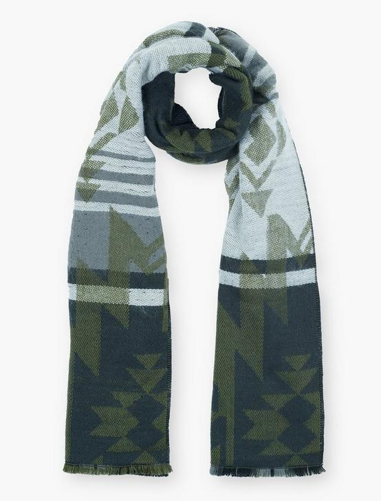 GEO PLAID DUOFOLD SCARF, MULTI, productTileDesktop