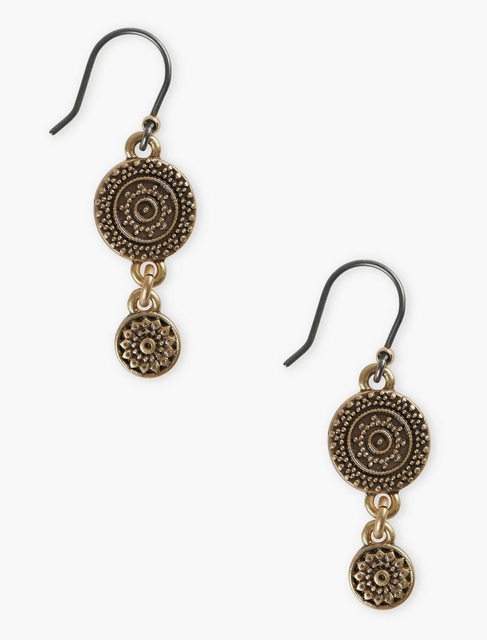 ETCHED DROP EARRINGS, image 1