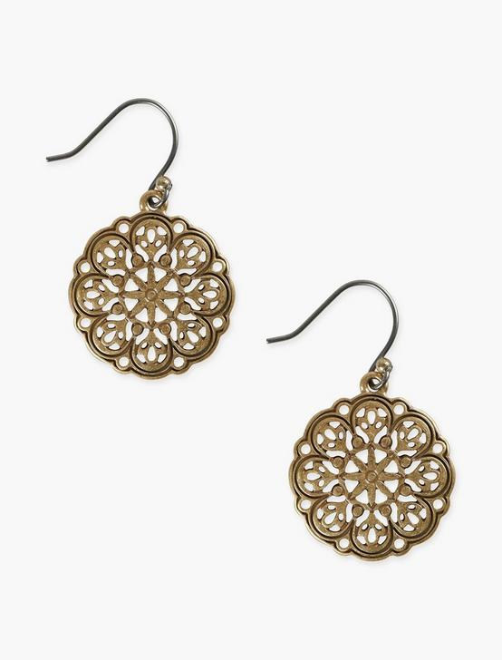 OPENWORK DROP EARRING, GOLD, productTileDesktop
