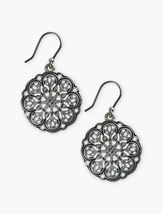 OPENWORK DROP EARRING, SILVER, productTileDesktop