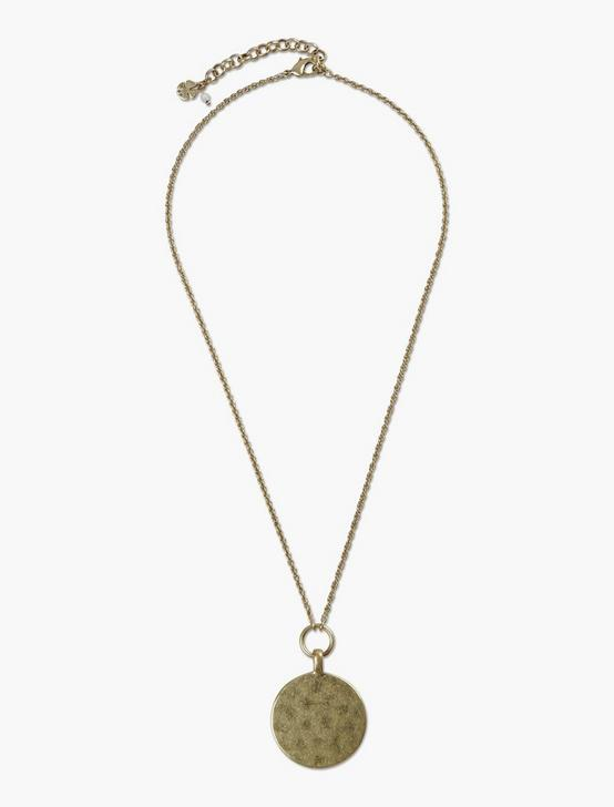 COIN PENDANT NECKLACE, GOLD, productTileDesktop