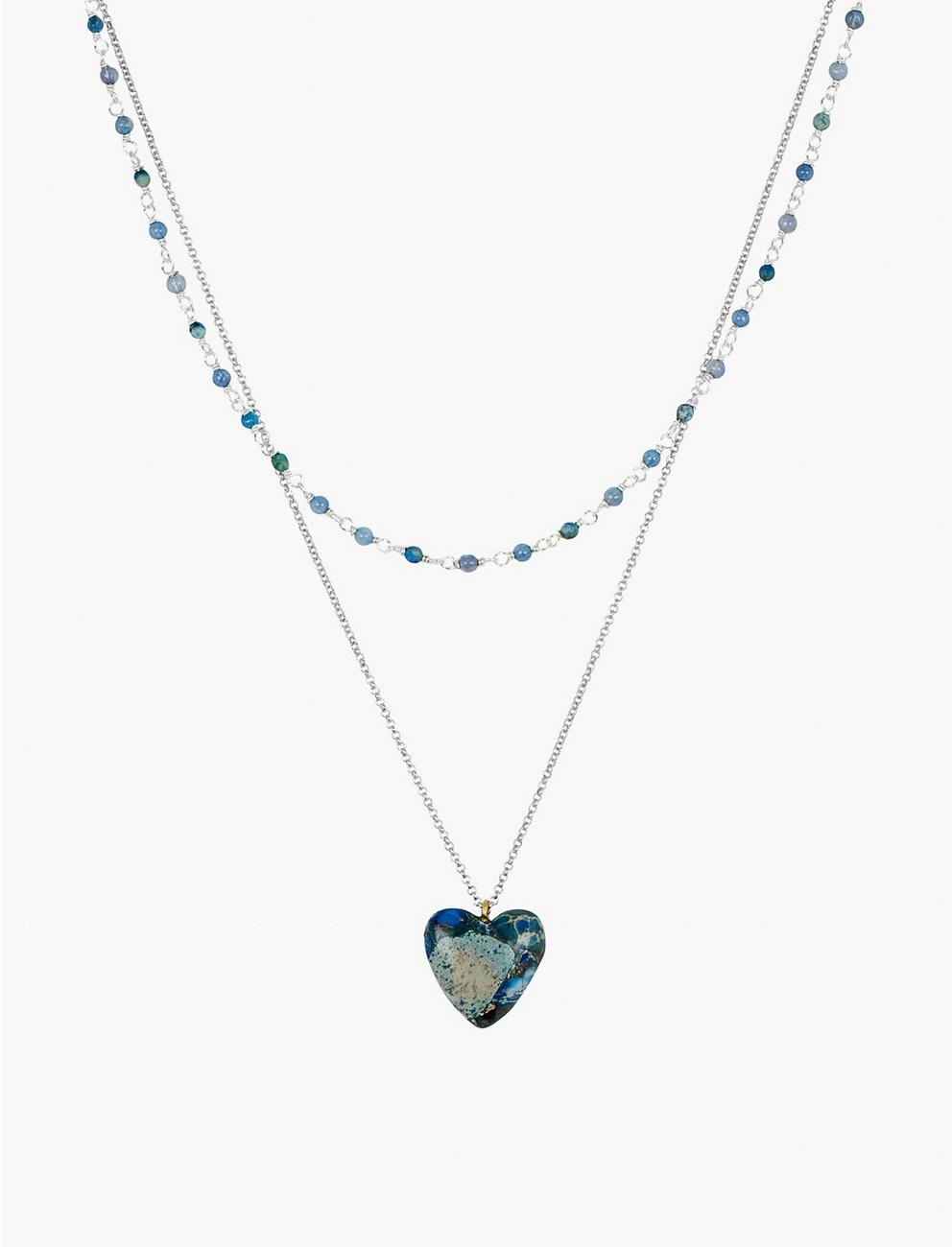 LAYER HEART PENDANT NECKLACE,