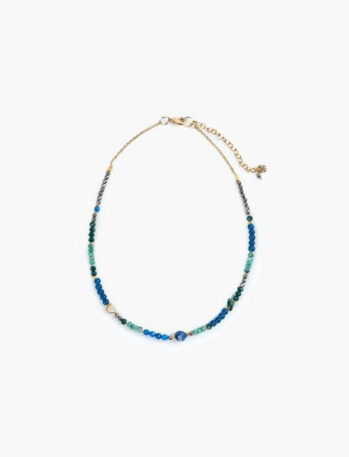 BEADED COLLAR NECKLACE, TWO TONE