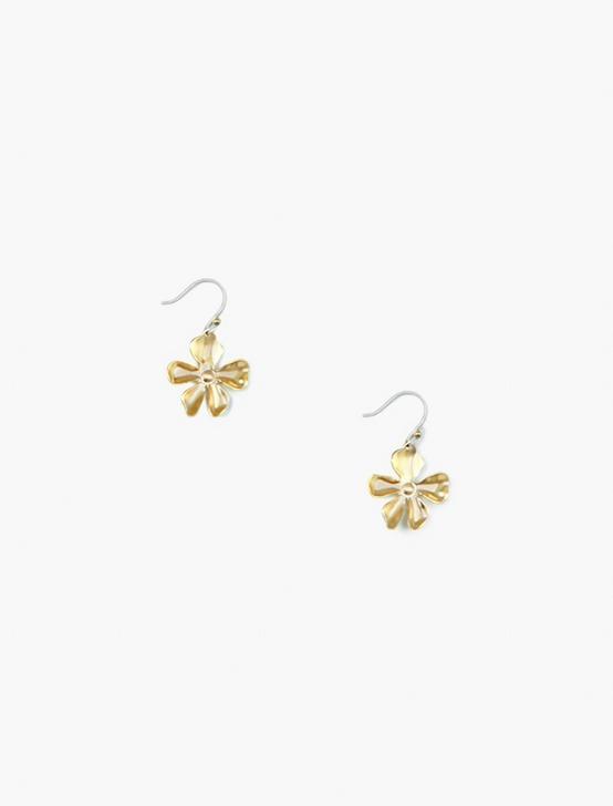 FLORAL DROP EARRINGS, GOLD, productTileDesktop