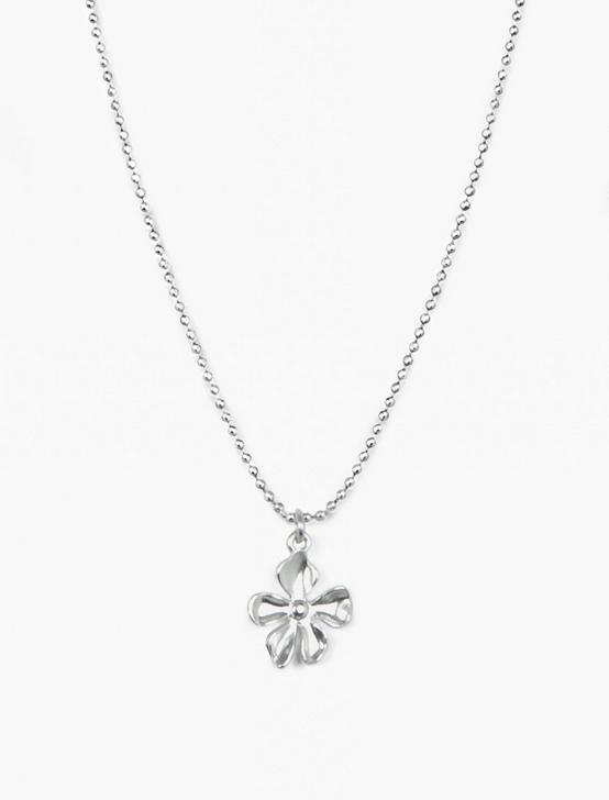 FLORAL LAYER NECKLACE, SILVER, productTileDesktop