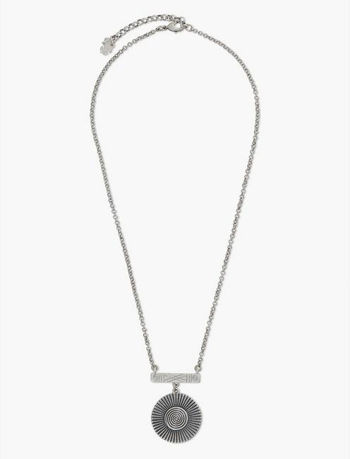 ETCHED SHORT NECKLACE, SILVER