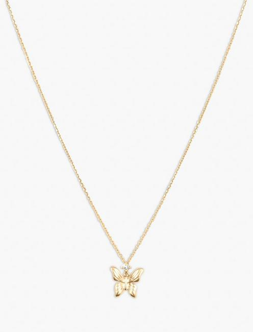 BUTTERFLY PENDANT NECKLACE,