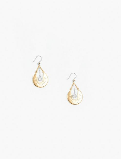 GOLD ETCHED DROP EARRINGS,