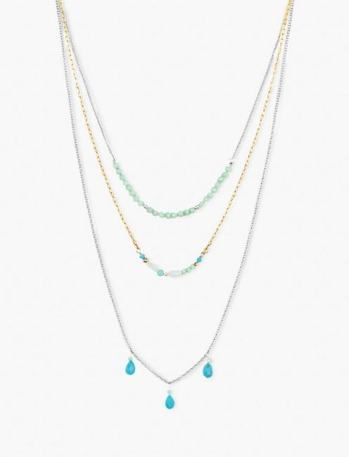 TURQUOISE BEADED NECKLACE,