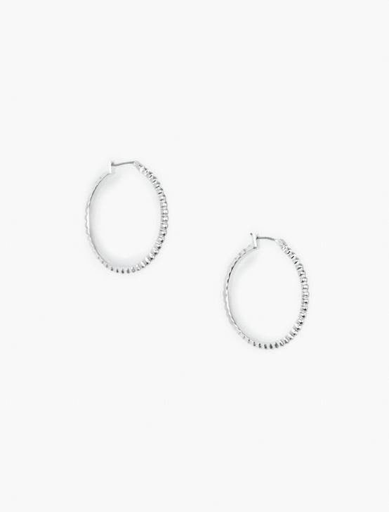 HOOP EARRINGS, SILVER, productTileDesktop