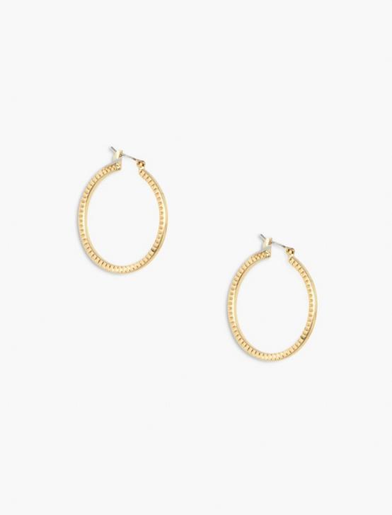 CHAIN HOOP EARRINGS, GOLD, productTileDesktop