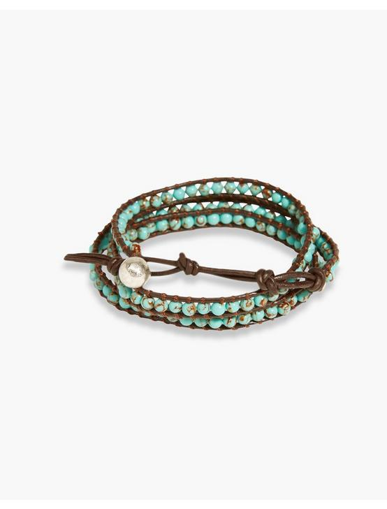 TURQUOISE WRAP BRACELET, MEDIUM LIGHT BLUE, productTileDesktop