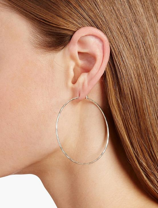 BIG HAMMERED HOOP, SILVER, productTileDesktop