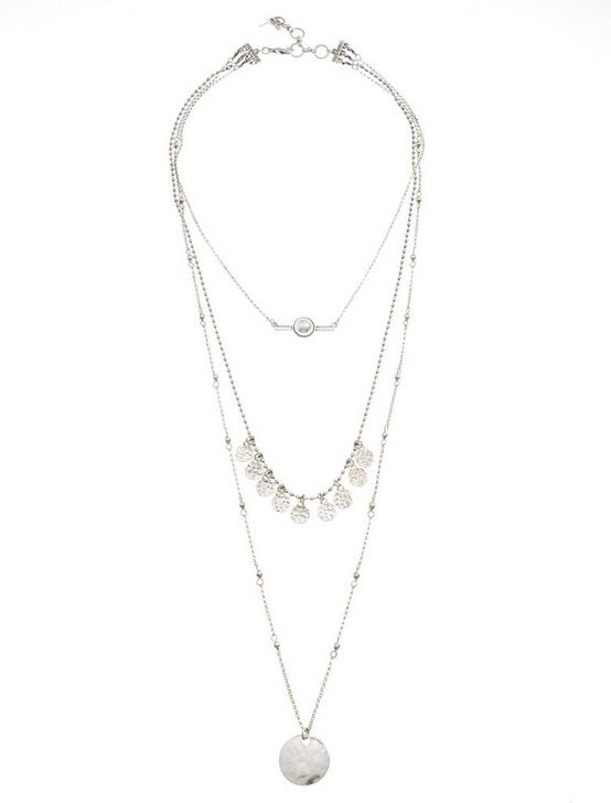 LUCKY LAYERS NECKLACE, SILVER, productTileDesktop