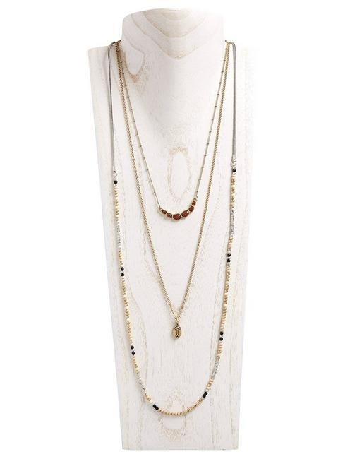 LUCKY LAYER NECKLACE, MULTI