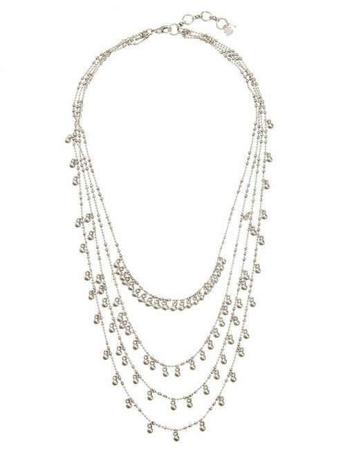 SILVER MULTI LAYER NECKLACE,