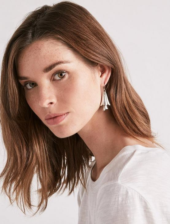 PETAL DROP EARRINGS, SILVER, productTileDesktop
